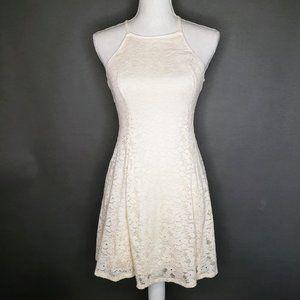 Hollister Lace Pattern Open Back Strapped Dress S